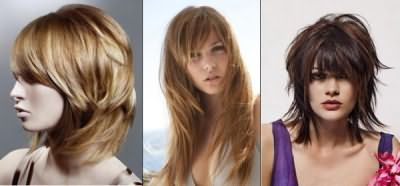 На фото изображены стрижки, выполненные на различную длину градуированием.