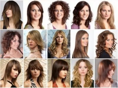 На фото изображены различные прически для средней длины волос, которые были выполнены при помощи данной методики.