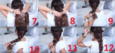 Второй этап — плетение косы
