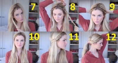Завершающий этап плетения кос