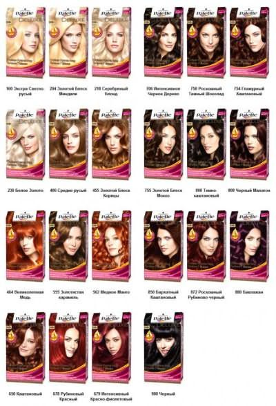 Палитра краски для волос DELUXE - одна из самых популярных серий бренда палет.