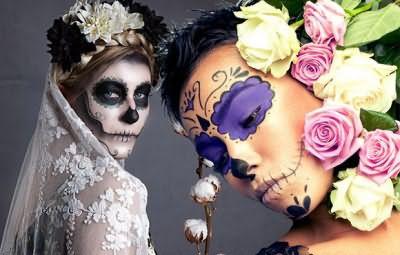 Дополнит и завершит устрашающий, но очаровательный образ – макияж!
