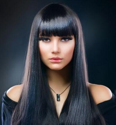 иссиня черные волосы