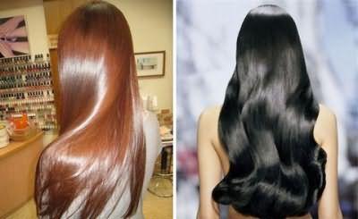 Блеск волос после процедуры