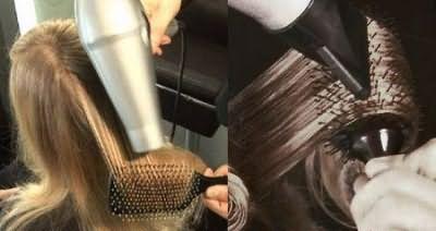 Фото выпрямления волос без утюжка
