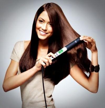 Как выпрямить волосы утюгом