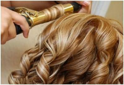 Накручивания волос на плойку