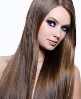 Длинные волосы, выпрямленные утюжком