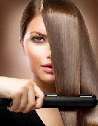 Выпрямление волос с помощью утюжка