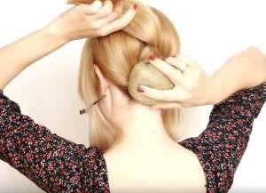 как сделать красивую укладку на средние волосы 7