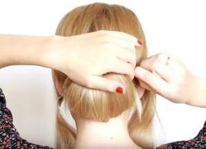 как сделать красивую укладку на средние волосы 9
