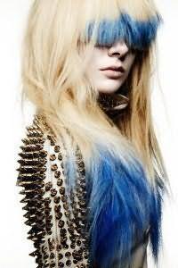 Окрашивание кончиков волос dip dye.
