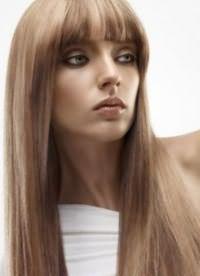 Распущенные волосы с челкой3