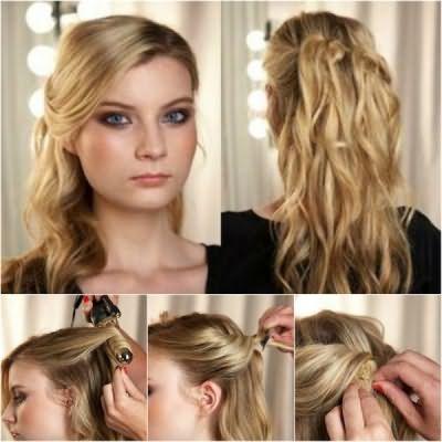 Преимущество прически в том, что она станет великолепным ответом на вопрос, как красиво заколоть короткие волосы