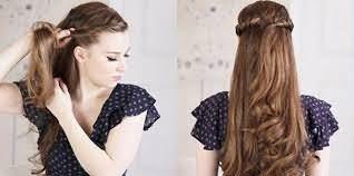Фото: распущенные длинные волосы открывают широкие возможности для создания очаровательных причесок