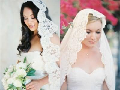 Фата – неизменный атрибут невесты