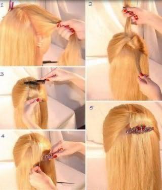 Как поэтапно заколоть длинные волосы