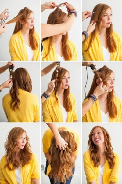 как правильно завить волосы плойкой