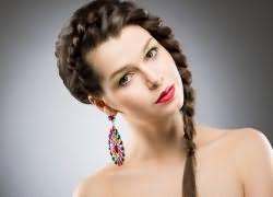 укладка волос средней длины в домашних условиях