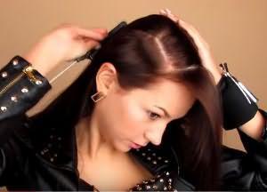 укладка волос средней длины своими руками 2