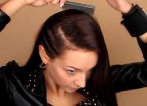 укладка волос средней длины своими руками 5