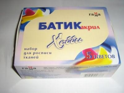 Самый популярный метод – окрашивание Батик акрилом.