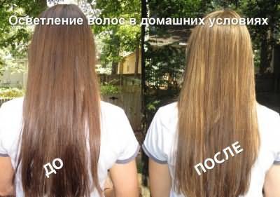 Эффект осветления волос в домашних условиях без краски.