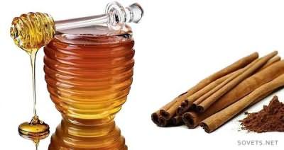 Осветление с медом и корицей