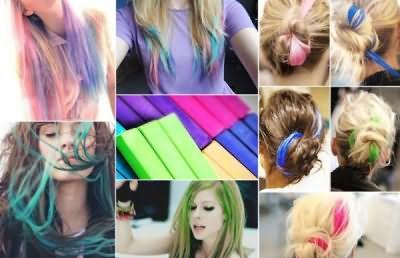 Всего несколько цветных мелков и ваш образ становится неподражаемым