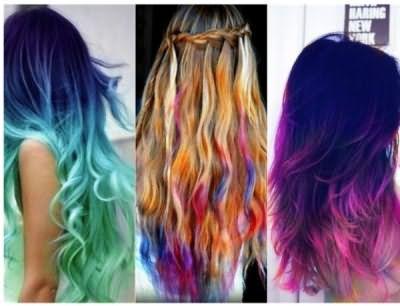 Чтобы получить привлекательный результат, учитывайте исходный цвет локонов. Шатенкам стоит обратить внимание на мелки фиолетового, синего и зеленого цвета, блондинкам подойдет розовый, красный и сиреневый тон.