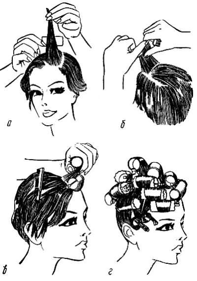 Технология укладки волос на бигуди
