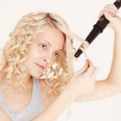 Как накрутить волосы на плойку - шаг 2
