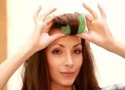 как накрутить волосы на бигуди липучки 3