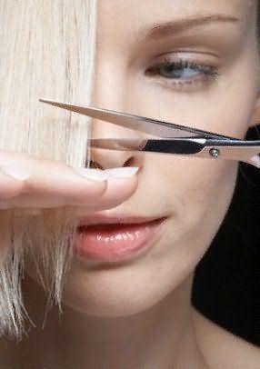 Как правильно стричь волосы ножницами