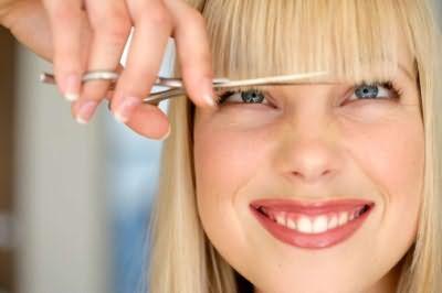 При стрижке челки, помните, что ее длина меняется после полного высыхания
