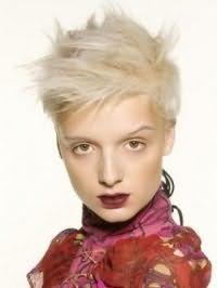 Идея укладки стрижки в стиле эмо для коротких волос пепельного тона