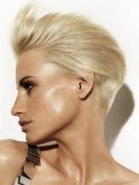 Короткий вариант креативной женской стрижки для волос пепельно-русого оттенка