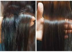 полировка кончиков волос насадкой