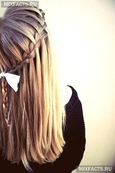 прическа на длинных волосах в домашних условиях