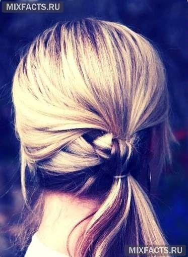 красивая домашяя прическа для длинных волос