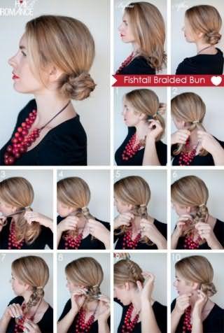 Как сделать пучок: пошаговая техника на фото