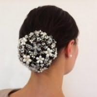 Аксессуар на свадьбу для прически пучок для длинных волос