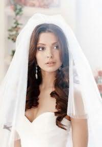 Свадебная прическа с фатой своими руками