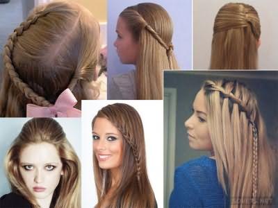 Прически в школу на длинные распущенные волосы
