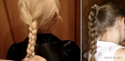 Прическа квадратная коса