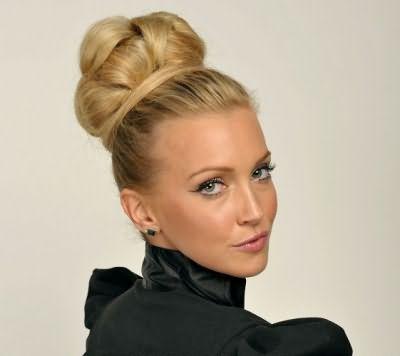 Затейливые прически: шишка из волос
