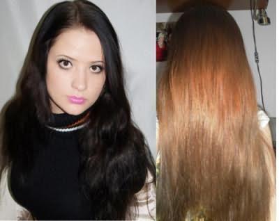 Фото волос до и после применения смывки