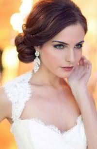 Собранная прическа для невесты