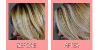 Волосы до и после тонирования