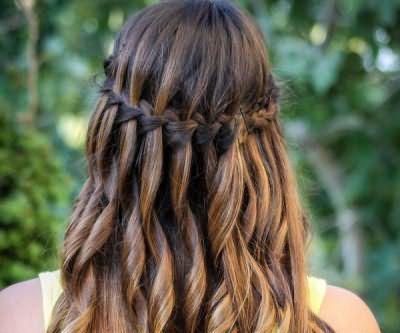 как плести водопад из волос